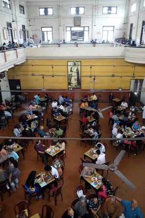 Visitors of popular Indian Coffee House have lunch in Kolkata on February 11, 2016. The India Coffee House chain was started by the Coffee Cess Committee in 1936 in Bombay.