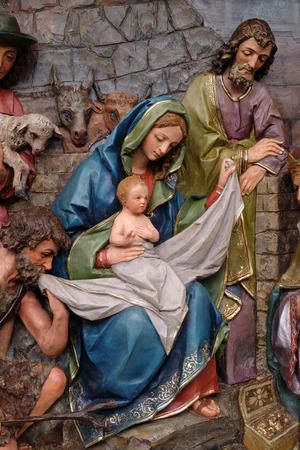 Nativity Scene, altarpiece in the church of Saint Matthew in Stitar, Croatia