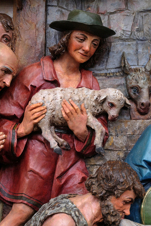 Adoration of the Shepherds, Nativity Scene, altarpiece in the church of Saint Matthew in Stitar, Croatia