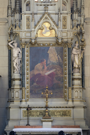 Altar of Saint Jerome in Zagreb cathedral dedicated to the Assumption of Mary