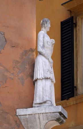 La Bonissima statue on Palazzo comunale di Modena, Italy
