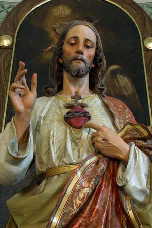 Sacred Heart of Jesus, altar in the Parish Church of the Holy Cross in Zacretje, Croatia