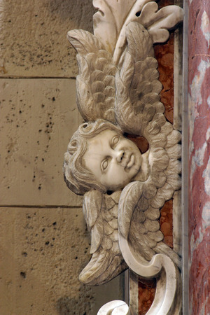 Angel, altar of the Saint Luke the Evangelist in Zagreb cathedral dedicated to the Assumption of Mary