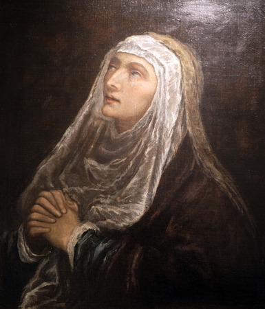 Mater Dolorosa by Jacopo Bassano, oil on canvas, 16 century, the Passion in Art from Mimara Museum in Zagreb, Croatia