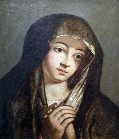 Mater Dolorosa by follower of Bartolome Esteban Murillo, oil on canvas, 17 century, the Passion in Art from Mimara Museum in Zagreb, Croatia