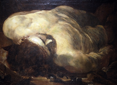 Dead Christ, Lombard School, oil on canvas, 16 century, the Passion in Art from Mimara Museum in Zagreb, Croatia