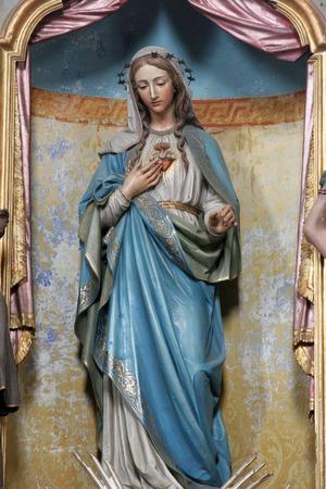 Onbevlekt Hart van Maria, altaar in de kerk van de Hemelvaart in Sveta Marija na Muri, Kroatië