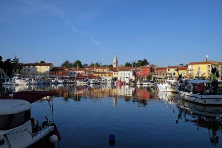 Small idyllic city Novigrad located on the west coast of Istria peninsula, Croatia Redakční