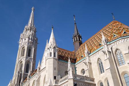 Church of St. Matthias near the fisherman bastion in Budapest, Hungary