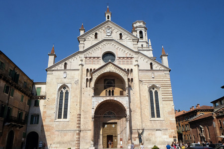 Cathedral dedicated to the Blessed Virgin Mary under the designation Santa Maria Matricolare in Verona, Italy Redakční