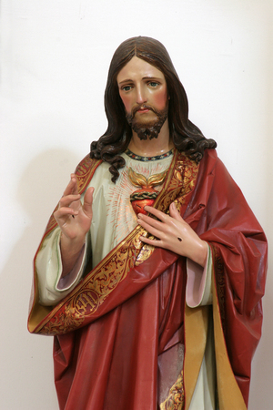 Sacred Heart of Jesus, statue in the Church of Holy Cross in Sisak, Croatia