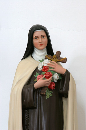 Statue of Saint Teresa in the Church of Holy Cross in Sisak, Croatia