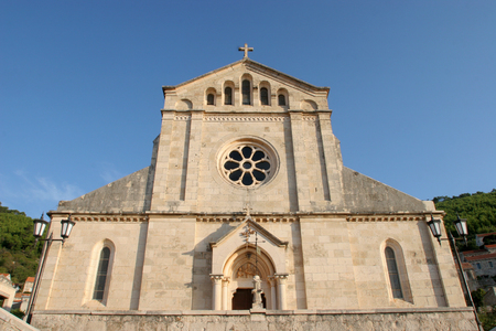 Church of Blessed Virgin of Purification in Smokvica, Korcula island, Croatia
