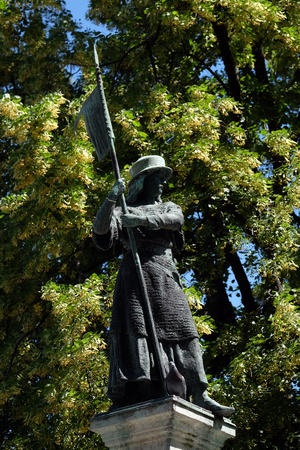 Statue commemorated to Zurich women who defended the city during the siege of Zurich, Switzerland Editöryel
