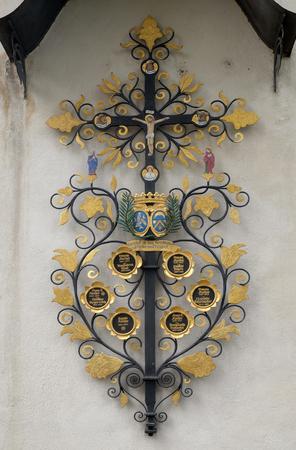 Cross in the church of St. Leodegar in Lucerne, Switzerland Editorial