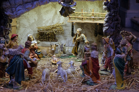 Nativity Scene, Orsanmichele Church in Florence, Tuscany, Italy