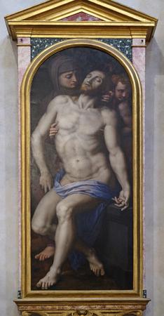 Pieta by Agnolo di Cosimo usually known as Il Bronzino, or Agnolo Bronzino, Basilica of Santa Croce (Basilica of the Holy Cross) in Florence, Italy