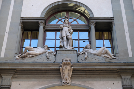 Sculptures on Uffizi Gallery, Florence, Italy