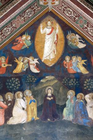 Ascension of Christ, Fresco by Andrea di Bonaiuto, Spanish Chapel in Santa Maria Novella Principal Dominican church in Florence, Italy