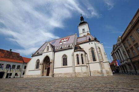 Church of St. Mark in Zagreb, Croatia 写真素材