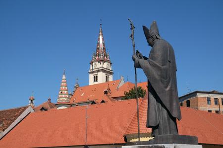 Pope John Paul II statue, Basilica Assumption of the Virgin Mary in Marija Bistrica, Croatia