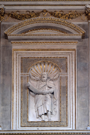 Prophet Isaiah, statue in Mantua Cathedral dedicated to Saint Peter, Mantua, Italy