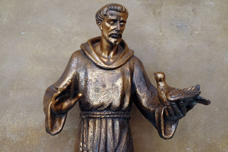 Sain Francis of Assisi statue in Saint Francis church in Mantua, Italy