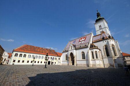 Church of St. Mark in Zagreb, Croatia 写真素材 - 128891580