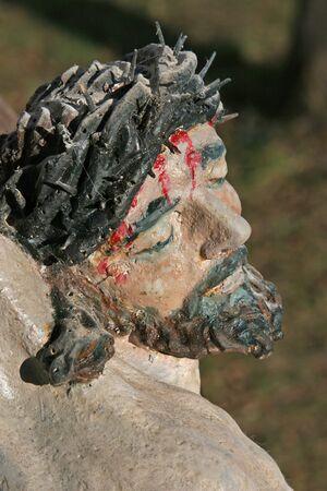 Roadside Crucifix in Klenovnik, Croatia