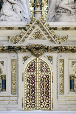 Tabernacle at the altar of the Holy Cross in Zagreb cathedral dedicated to the Assumption of Mary