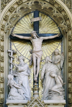 Altar of the Holy Cross in Zagreb cathedral dedicated to the Assumption Stock Photo