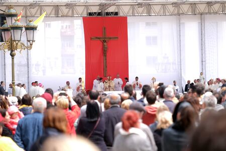 Pope Francis celebrate Mass in Macedonia Square, in Skopje the capital city of North Macedonia