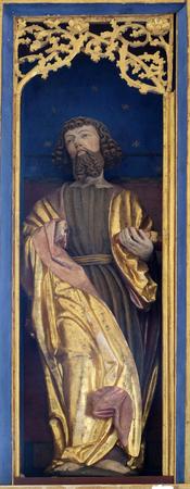 Saint Joachim, altar in chapel Amorsbrunn in Amorbach, Forest of Odes Bavaria, Germany