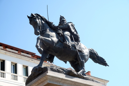 Monument to Victor Emmanuel II, first king of united Italy, Riva degli Schiavoni, Venice, Italy