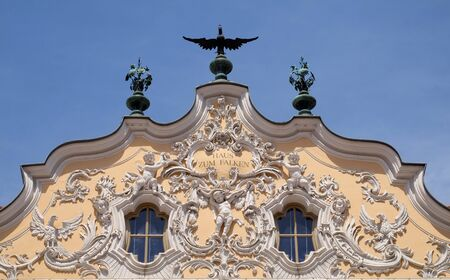 House of Falcon, the finest Rococo style building in the Wurzburg, Germany