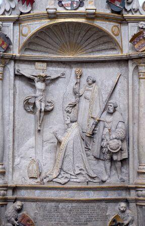 Epitaph for Bishop Konrad von Thungen in Wurzburg Cathedral dedicated to Saint Kilian, Bavaria, Germany