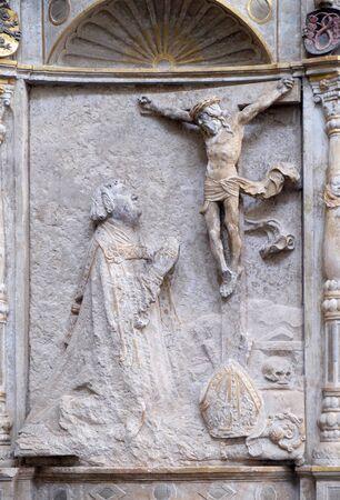 Memorial to the Bishop Konrad von Bibra in Wurzburg Cathedral, Bavaria, Germany