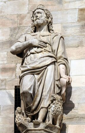 Daniel, statue on the Milan Cathedral, Duomo di Santa Maria Nascente, Milan, Lombardy, Italy Stock Photo