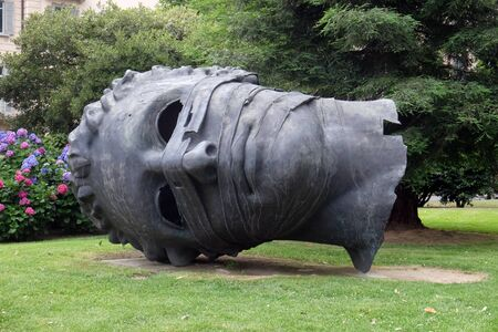 Famous monument shaped head called