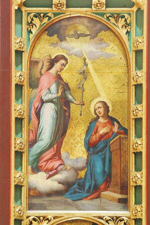 Annunciation, altar of Virgin Mary in Zagreb cathedral