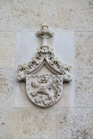 Coat of arms of Cardinal Joseph Mihalovic, facade of Zagreb cathedral