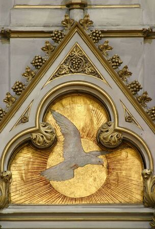 Holy Spirit Bird, altar of Saint Jerome in Zagreb cathedral Banque d'images