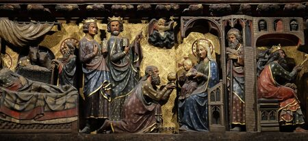Adoration of the Magi, Notre Dame Cathedral in Paris, France