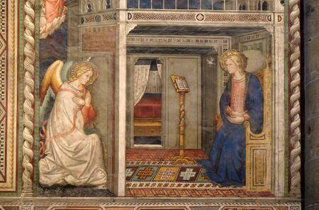 Annunciation to the Virgin Mary by Pietro di Miniato, Santa Maria Novella Principal Dominican church in Florence, Italy