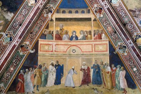 The Descent of the Holy Spirit, fresco by Andrea Di Bonaiuto, Spanish Chapel in Santa Maria Novella Principal Dominican church in Florence, Italy Banco de Imagens
