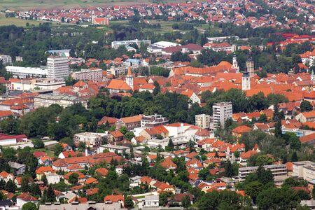Aerial view of Varazdin, city in northwestern Croatia