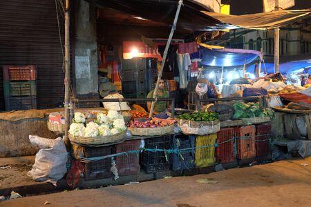 Farmer sell vegetables in New Market in Kolkata