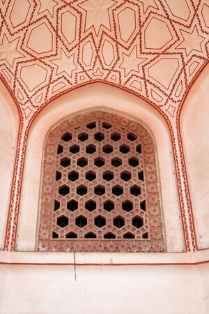Architecture detail inside the Humayun's Tomb, built by Hamida Banu Begun in 1565-72, Delhi, India
