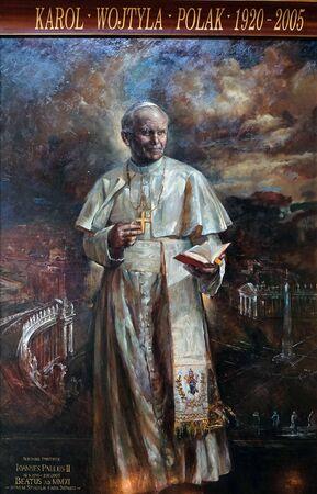 San Giovanni Paolo II di Natalia Tsarkova nella chiesa di Santa Maria del Popolo, Roma, Italia