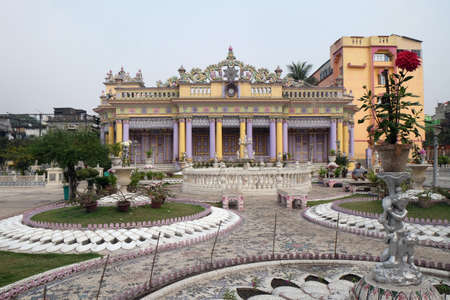 Jain Temple (also called Parshwanath Temple) is a Jain temple at Badridas Temple Street is a major tourist attraction in Kolkata, West Bengal, India Editorial